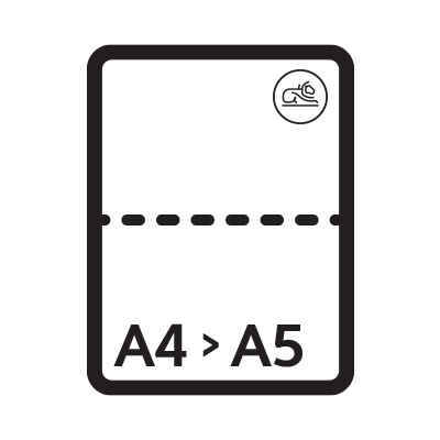 A4 Folded to A5